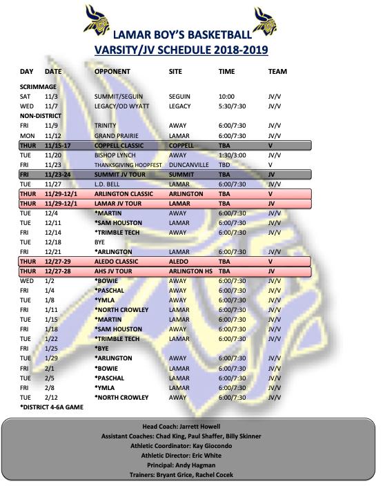 LHSBoysBasketballSChedule2018-19